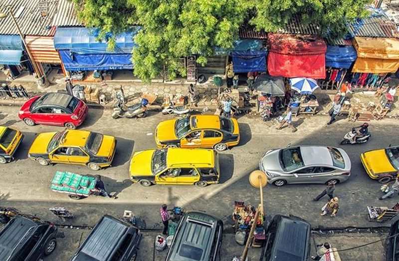 Yellow cabs in Dakar Dakar Senegal Africa Yellowcabs Town Rushhour Living Heat Travel