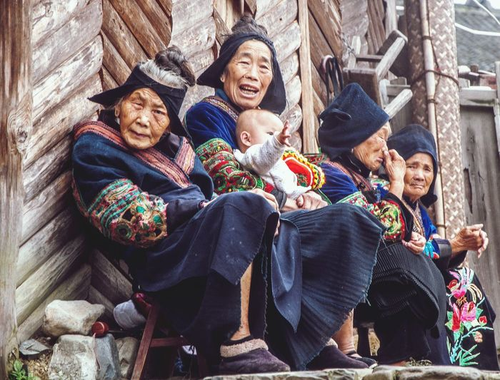 Giving the ole stink eye Village Life Village Miao Minority China Culture China Photos China Old Women Village Old Women Happiness Smiling Warm Clothing Outdoors Senior Women Women Sitting People