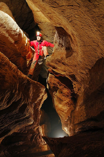 Spelunker exploring a cave. Underground landscape Archeology Dark Exploring Lost Lost In The Landscape Meandering Nature Underground Cave Cavern Caves Photography Caves_collection Caving Discovery Extreme Sport Gallery Geology Grotto Landscape Mine Silence Speleology Spelunker Spelunking Spéléologie