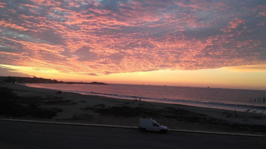 Astronomy Sunset Water Sea Horizon Dusk Sky Landscape Horizon Over Water Cloud - Sky Romantic Sky