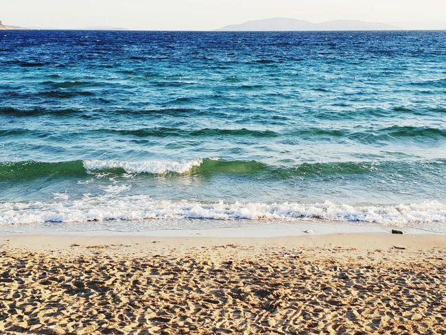 Water Wave Sea Beach Sand Blue Sky Horizon Over Water Landscape Pebble Beach Calm Coastline Seascape