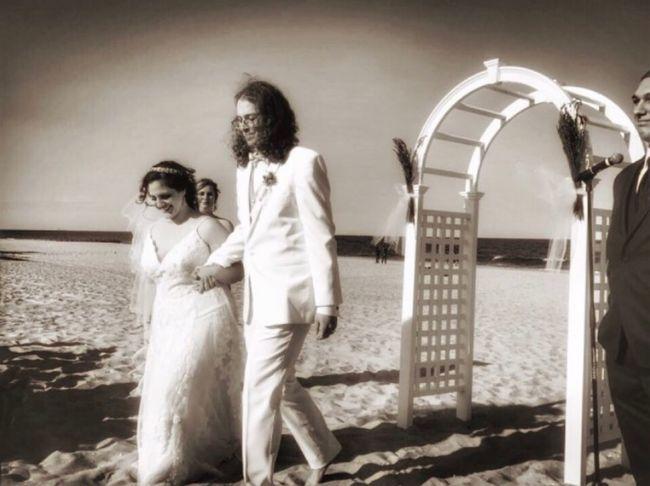A New Beginning Love Wedding Brideandgroom Groom Bride Togetherness Smiling Lifestyles Happiness Beach Portrait