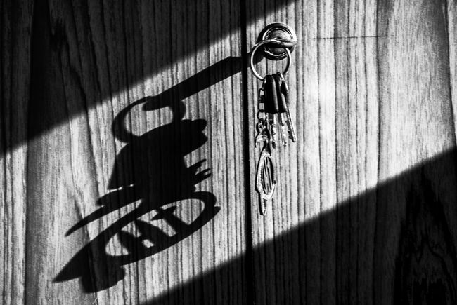 Abstract Beams Of Light Black & White Contrast Diagonal Gunbir Keys Shadow Sunlight