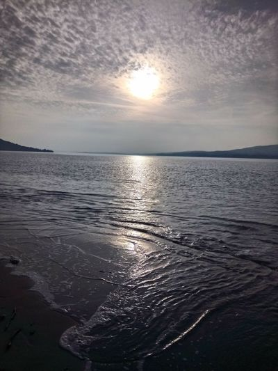 Reflection Water Rippled Sunset Sky Sunlight Nature Tranquility Horizon Over Water Outdoors Beauty In Nature No People Day Ireland🍀 Irish Beauty In Nature Travel Photography Nature Tranquility Scenics