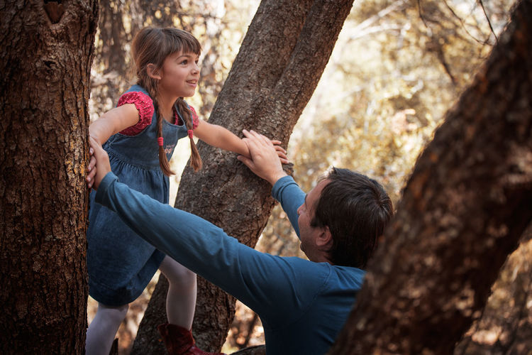 Adventure Child Childhood Climbing Human Arm Men Nature Outdoors People Plant Tree Tree Trunk Two People