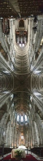 Panoramashot Church Tower Place Of Worship Ceiling Architecture Religion Church Symmetry Paris, France  Steustache