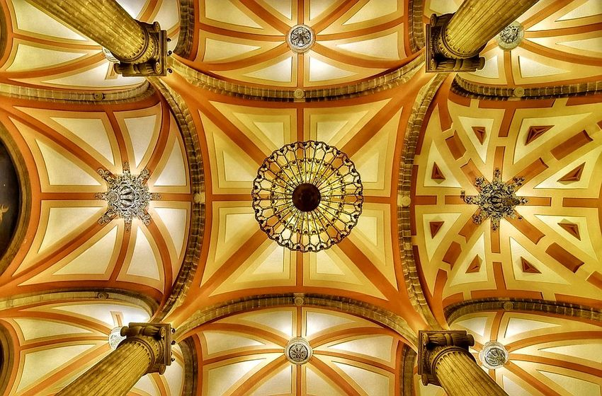 Techo Catedral de San Juan Ceiling Indoors  Pattern Architectural Feature Full Frame Architecture Low Angle View Hanging Close-up Symmetry No People Built Structure Architectural Design Day