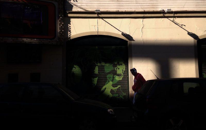 Man in a car window