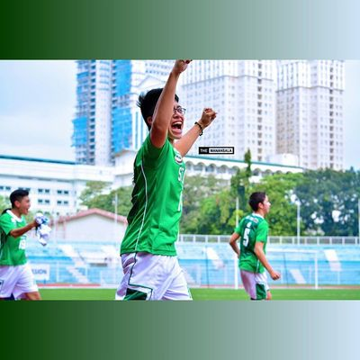 When the referee blew his whistle twice @justincallanta @renzoherbosa @luislim7 🎆🎉⚽ . . . NCAA Ncaa90 Ncaaseason90 CSBvsSBC LSGH Greenies sbspotlight soccerbible juniors football bootspotting celebration themanansala