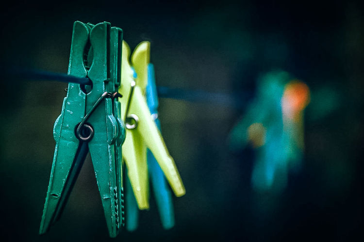EyeEmNewHere Focus On Foreground Poland Green Photography Photooftheday Outdoors EyeEm Colors Art Nature Hanging Clothespin Close-up No People Day