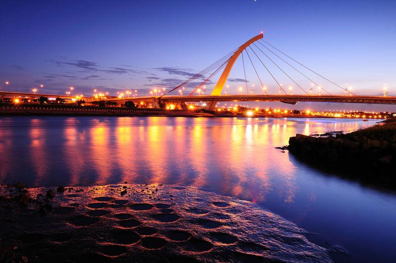 Taiwan Bridge Nature Night Outdoors River Sky Sunset Taipei 台北 台北市 台灣 大直 大直橋