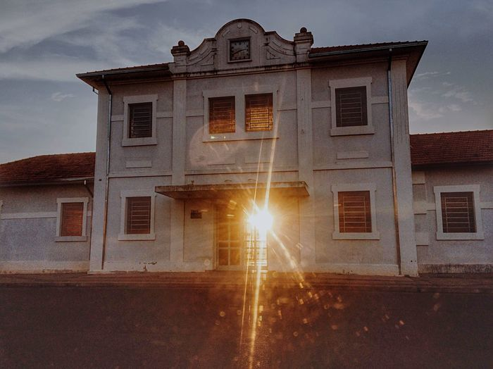 View of building at sunset