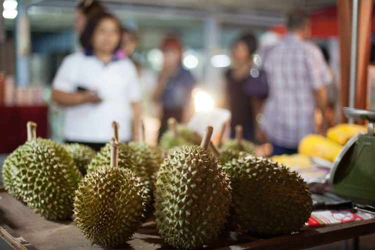 Exotic fruits on table