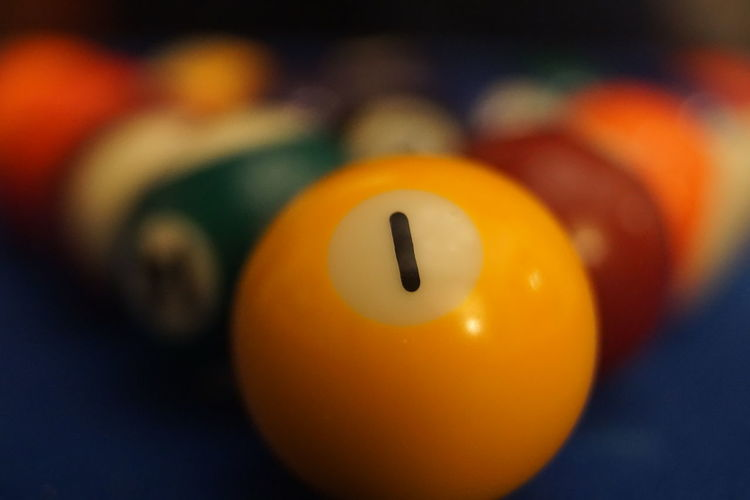Pool Ball Pool - Cue Sport Ball Pool Table Number Focus On Foreground Leisure Activity Racked Up Close-up Sport