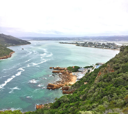Knysna Heads Bay Beauty In Nature Coastal Feature Coastline Day High Angle View Horizon Over Water Knysna Nature No People Outdoors Scenics Sea Seaside Sky Tranquility View Water