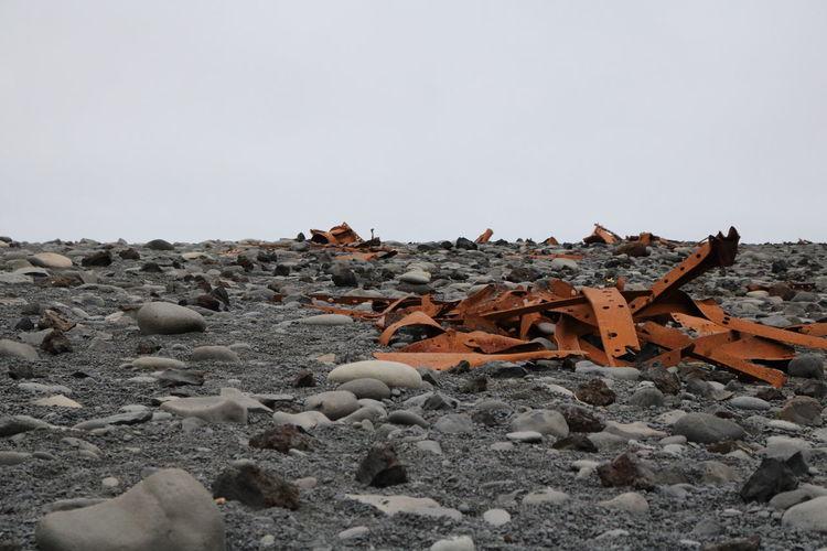 Djúpalónssandur Beach Iceland Black Sand Beach Iceland Day No People Outdoors Rock - Object Rusty Rusty Metal Sky Wreckage