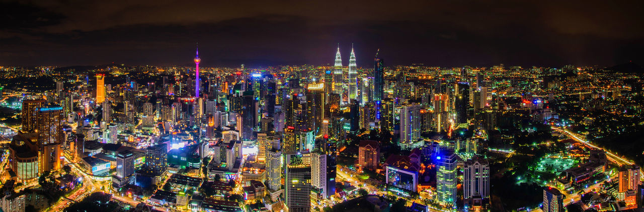 Cityscape by night Kuala Lumpur never sleep Kuala Lumpur Malaysia  The Traveler - 2018 EyeEm Awards Aerial View Architecture Building Building Exterior Built Structure City City Life Cityscape Crowded Financial District  High Angle View Illuminated Landscape Luminosity Modern Night Nightlife Office Building Exterior Outdoors Panoramic Skyscraper Travel Destinations Urban Skyline EyeEmNewHere