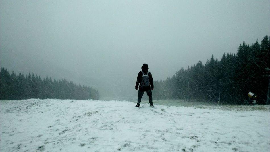 Лыжный спуск...