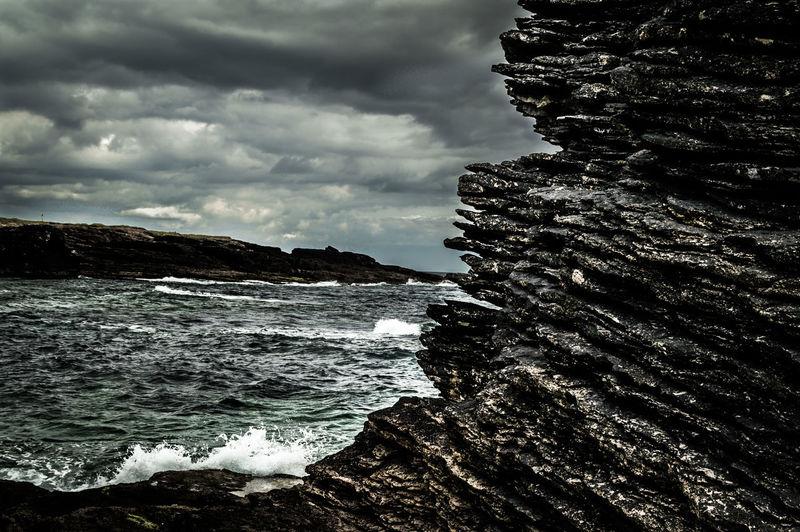 Dark Clouds Hook Head, Ireland Ireland🍀 Rocks And Water Rough Sea Seascape Wexford