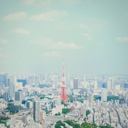 The view of Tokyo tower and the vicinity City Architecture Cityscape Sky Urban Skyline Skyscape Tokyo Tokyo Tower Battle Of The Cities 東京タワー 東京 都会 空 EyeEm Best Shots