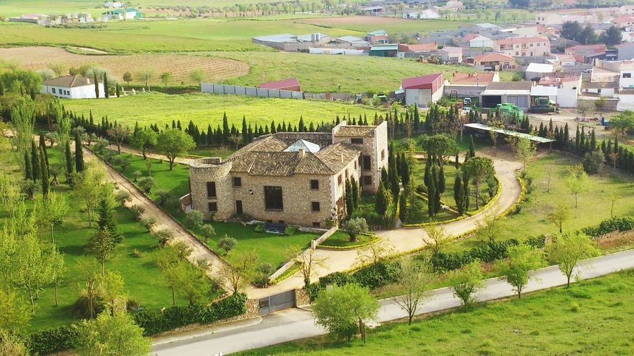 Agriculture High Angle View Rural Scene Building Exterior Terraced Field Built Structure Architecture