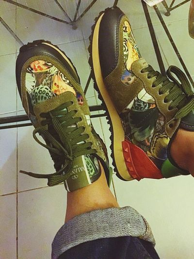 I love my Valentino Gavarani sneaker. A little camo, leather, suede, && studs make these sneaker the ultimate casual shoe. SneakerFreaks Sneakers I Love Shoes