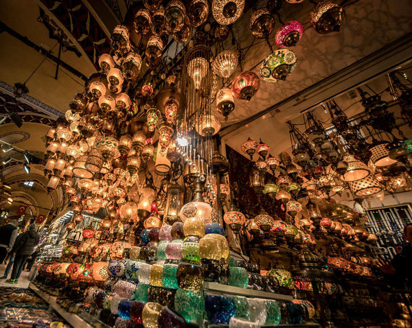 Turkey Turkinstagram Travel Travel Destinations Istanbul City Cityscape Street Streetphotography Istanbul Turkey Light Turkish Lamp Low Angle View Illuminated Decoration Chandelier Ceiling Indoors  Lighting Equipment Hanging Store Architecture