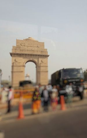 India City Sky Built Structure History Architecture No People Building Exterior Day Travel Destinations Indiagate Delhi Daliy Blurry