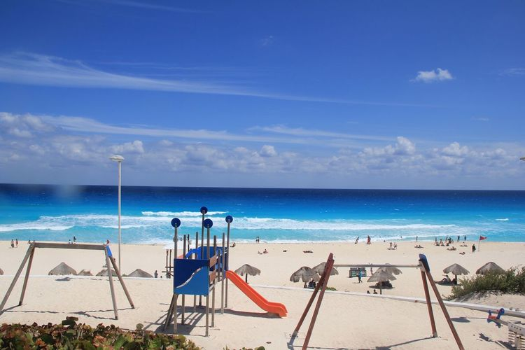Cancún beach Sea Beach Tranquility Beauty In Nature