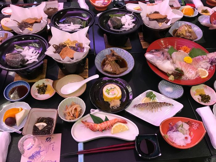 Food Food And Drink Plate Ready-to-eat Table Seafood Variation Serving Size Freshness Healthy Eating Dinner No People Meal Meat Bowl Gourmet Indoors  Sushi Steamed  Close-up