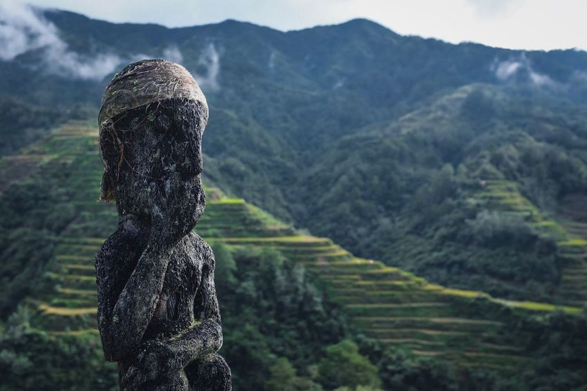 Banaue Rice Terraces Mountain No People Nature Day Focus On Foreground Beauty In Nature Agriculture Field Outdoors Landscape Statue Scenics Sculpture Sky
