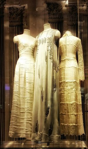 Awesome display @ H&M Window Display Clothing Store White Gown