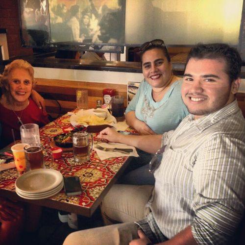 Lunch with Mom and Greatgrandma . BeerSaturday Beer +Burger Family BabyBackRibs SamAdams Chilis