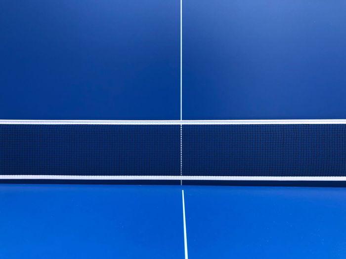 Full frame shot blue tennis court