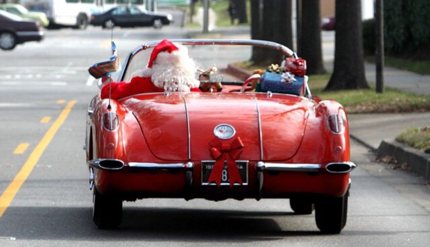 Cristmas Time♥ Santaclause Corvette Classic Car