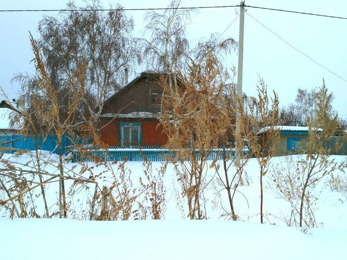 деревня зима зима❄️ зимапришла траваудома дом Nature Winter House