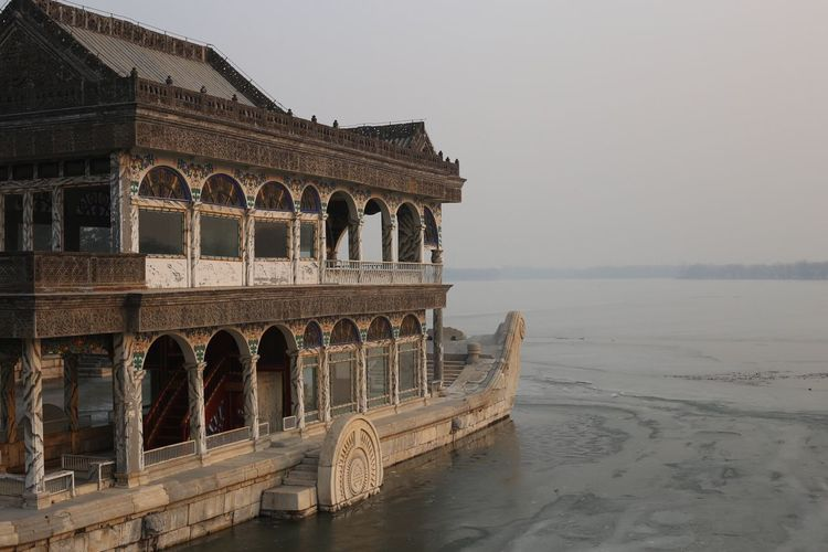 Summer Palace Beijing Arch Architecture Built Structure History Clear Sky Travel Destinations Outdoors No People Nature Day Sky Horizon Over Water Water