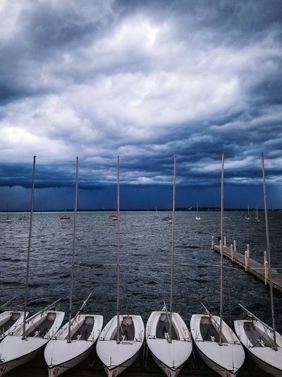 Incoming Storm Water Outdoors Cloud - Sky Sailboat Sailing Ship Storm Madison Wisconsin Madison University Of Wisconsin The Week On EyeEm