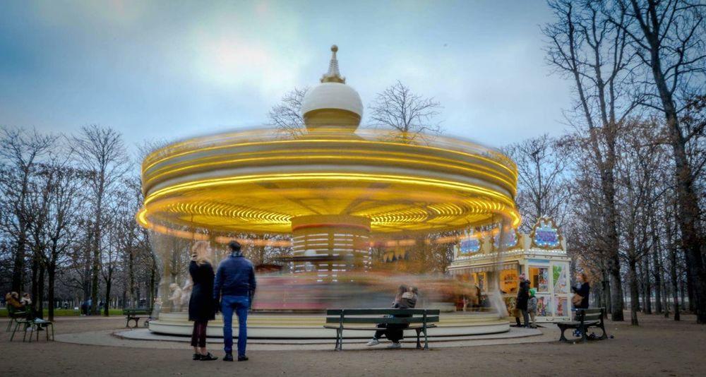 Eyeem Nature City Long Exposure Amusement Park Longue Exposition Getty Creative Building Exterior Jardin Des Tuileries Manège  Carroussel