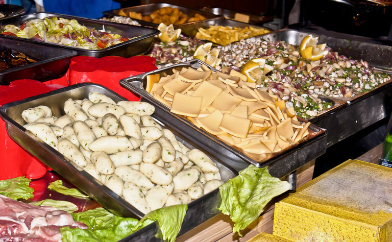 Traditional Sicilian food: panelle, crocchette and babbaluci Babbaluci Black Olive Choice Close-up Crocchè Day Food Food And Drink Freshness Healthy Eating High Angle View Indoors  No People Olive Panelle Raw Food Ready-to-eat Seafood Sicilian Sicilianfood Street Food Tray Variation