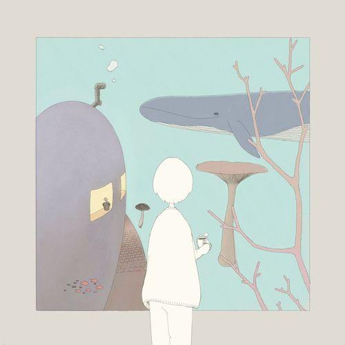 Saturday Illustration Drawing Painting Ocean Whale Beautiful Cute Girl Mushroom イラスト 絵
