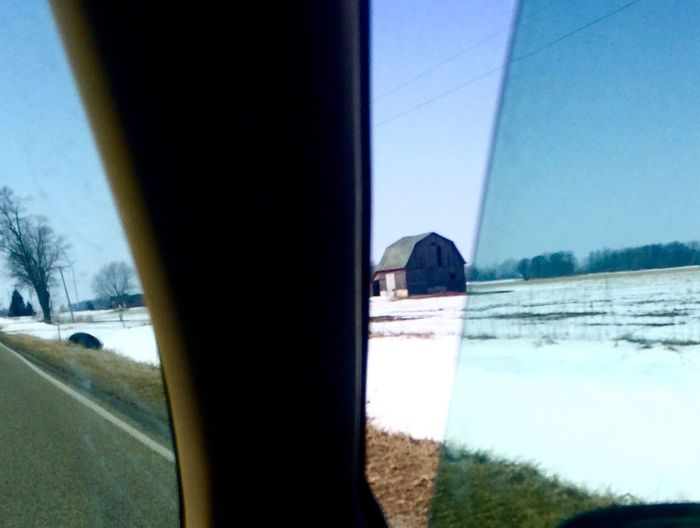 Barn through the window Drivebyphotography Enjoying Life & Getting Inspired Building Photography Country Landscapes No People , WINTER Rural America Oldbuilding Natural Light Photography Barns Peaceful Moment Snow❄