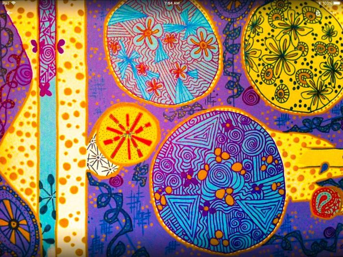 EyeEmNewHere Tangling Pattern Multi Colored Design Art And Craft Full Frame Creativity Backgrounds No People Floral Pattern Geometric Shape Variation Circle