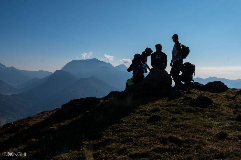 Mountain Silhouette Mtb Love Enduromtb Como Lake Italy🇮🇹
