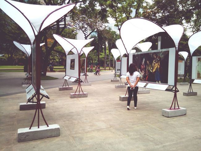 Makati, Philippines Makati Triangle Standing Real People Gallery Paintings Arts And Crafts