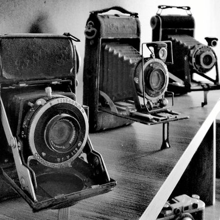 Old-fashioned Technology Antique Close-up Indoors  Vintage Retro Styled No People Arts Culture And Entertainment Huawei P8 Lite. Old Camera