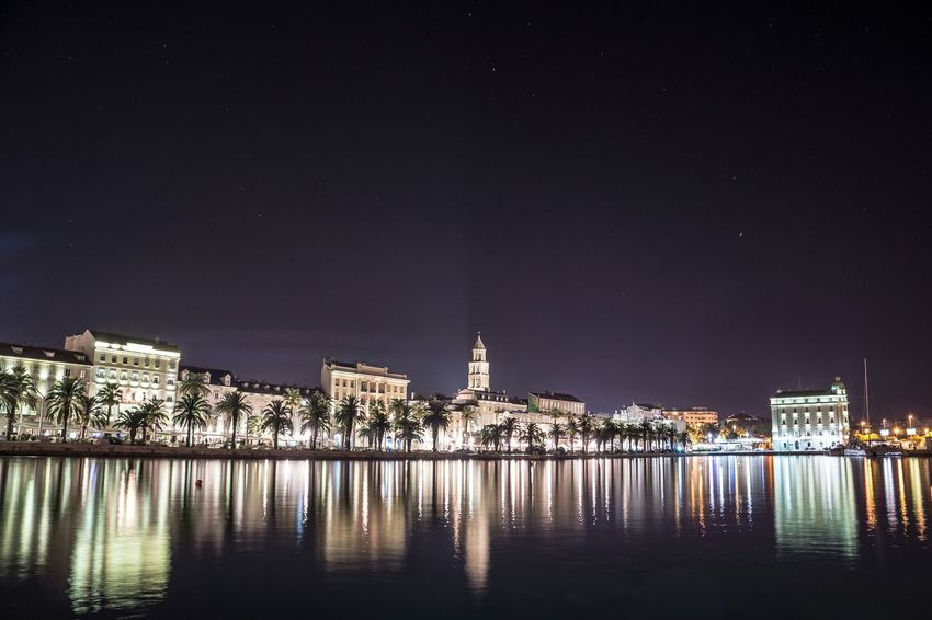 🏖🌒🌠 Night Architecture Illuminated Cityscape Built Structure Town Outdoors City Sky Water Photoart Photo Of The Day The Great Outdoors - 2017 EyeEm Awards Photos Around You EyeEmNewHere Eye4photography  Split Croatia Split Croatian Sea Croatiafullofnature Croatian Beach No People Photoshoot Arts Culture And Entertainment The Architect - 2017 EyeEm Awards The Architect - 2017 EyeEm Awards Live For The Story