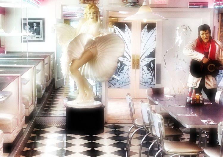 Ellie's Diner Don't Be Square Restaurant Elvis And Marilyn  Edit Junkie