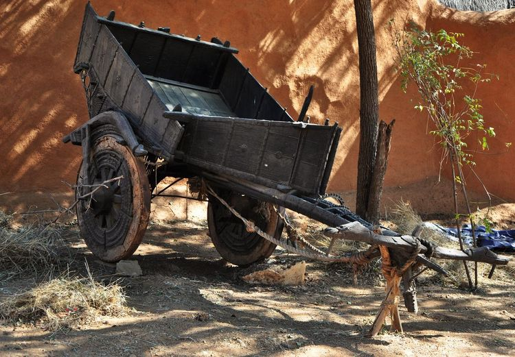 View of an abandoned cart