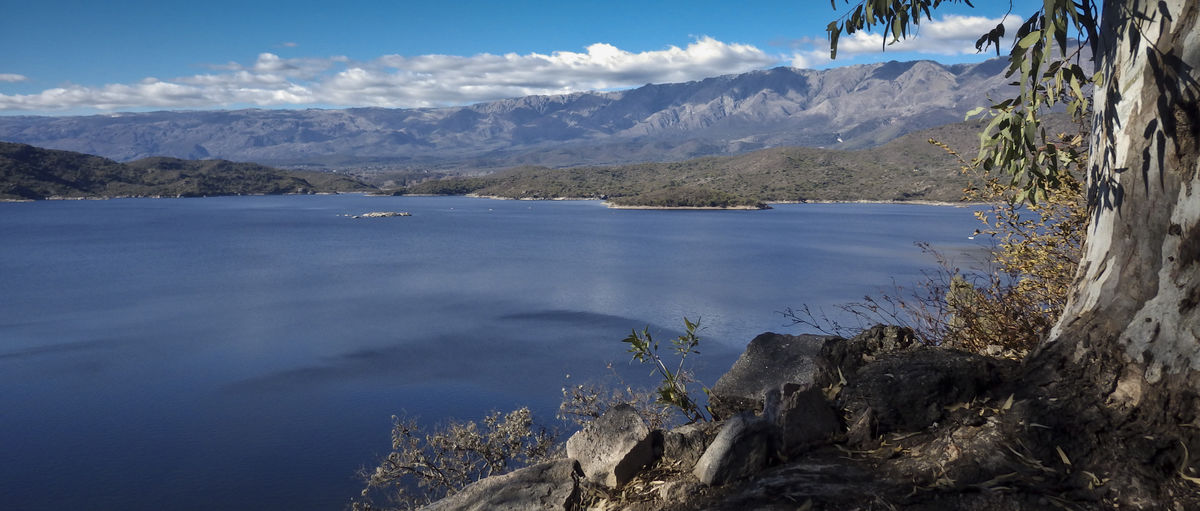 Dique la Viña Beauty In Nature Cloud - Sky Dam Lake Landscape Mountain Mountain Range Nature No People Outdoors Scenics - Nature Sky Tranquil Scene Tranquility Water